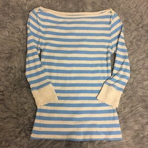 Old Navy women's long sleeve striped knit top